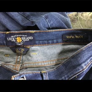 Lucky Brand Size 12 Boot Cut Jeans